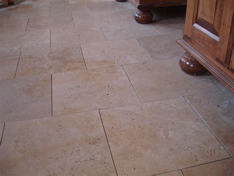 Groutless Kitchen Floor Tile by Travertine Floor Tile