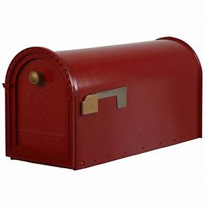 gibraltar mailboxes kensington post mount mailbox in red With home depot mailbox letters