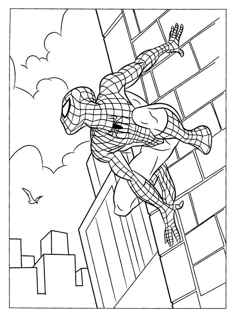 spiderman coloring page    print