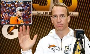 Broncos Peyton Manning Told Close Friends Hes Retiring