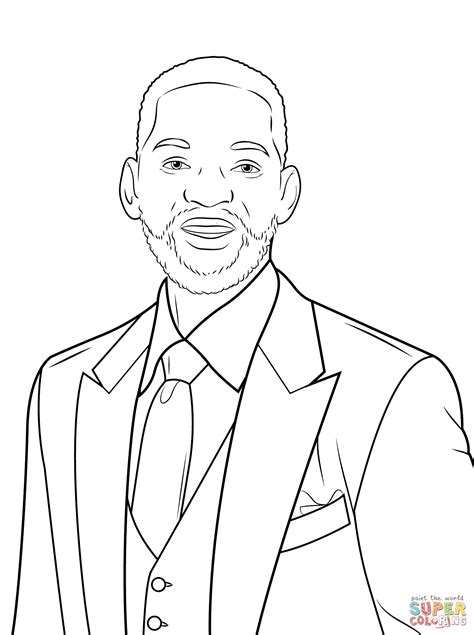 Ed Sheeran Kleurplaat by Will Smith Coloring Page Free Printable Coloring Pages