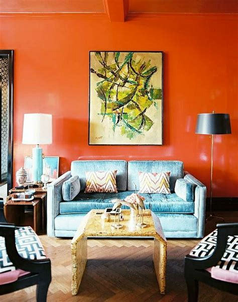 Wandfarbe Orange Kombinieren by Wandfarben Bilder 40 Inspirierende Beispiele