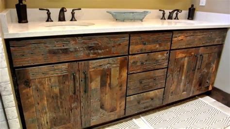 Reclaimed Bathroom Vanity by Reclaimed Wood Bathroom Vanity Home Design Decorating
