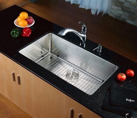kraus sinks kitchen sink kraus 32 inch undermount single bowl stainless steel