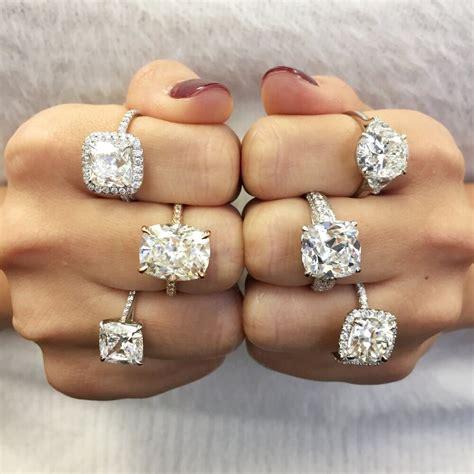 cushion cut diamond engagement ring   ideal cut
