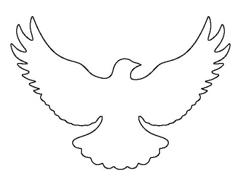 dove template flying dove pattern use the printable outline for crafts creating stencils scrapbooking and