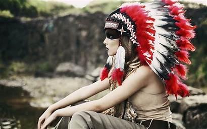 Native Indian Americans Headdress Desktop Nativas Indiano