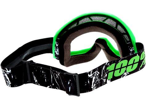 100 percent motocross goggles 100 percent new mx strata crafty dirt bike clear lime
