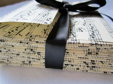 Vintage Sheet Music Envelopes Musical Notes Set Of 10 A2