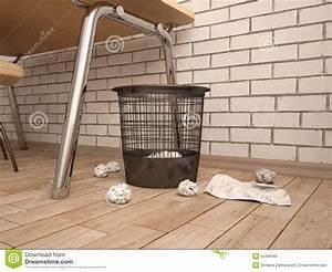 Trash, Can, In, Room, Stock, Illustration, Illustration, Of, Trash
