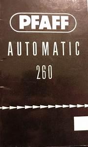 Pfaff 260 Manual