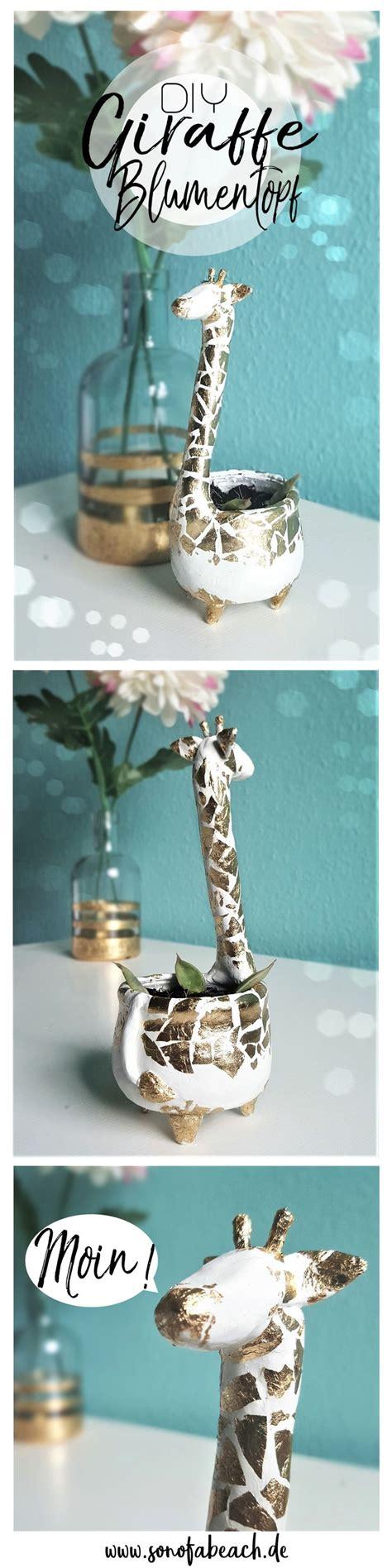 giraffe kostüm selber machen diy giraffe blumentopf aus modelliermasse selber machen einrichtung modelliermasse diy