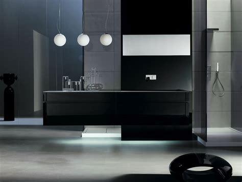 milldue kubik  lacquered black modern italian bathroom