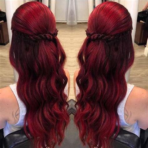 ruby red tones   jewel tone hair  pinterest