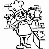 Baker Coloring Pages Jobs Career Drawing Bread Getdrawings Night Shift Community Workers Getcolorings sketch template