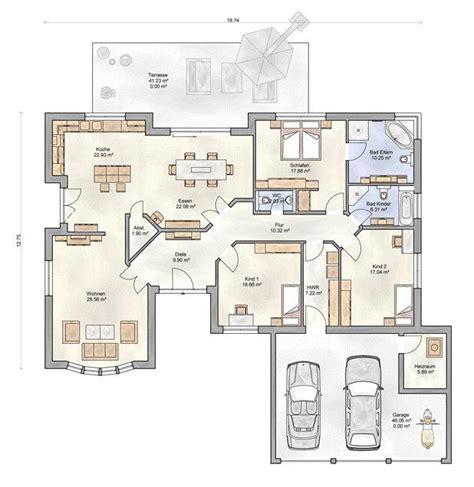 Bungalow Grundrisse 4 Zimmer by Bungalow Grundriss 4 Zimmer Mit Garage