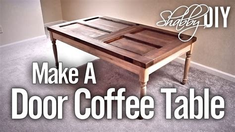 make a coffee table from an old door youtube