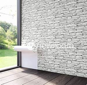 Moderne Tapeten Für Wohnzimmer : steintapete in wei sch ne edle tapete im design einer steinmauer moderne 3d optik f r ~ Sanjose-hotels-ca.com Haus und Dekorationen