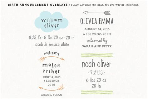Popular Card Templates ~ Page 10 Birth announcement