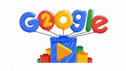 Google Birthday Doodles 20th Logos