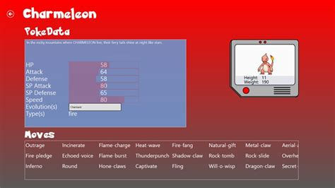 Pokemon Database For Windows 8 And 81