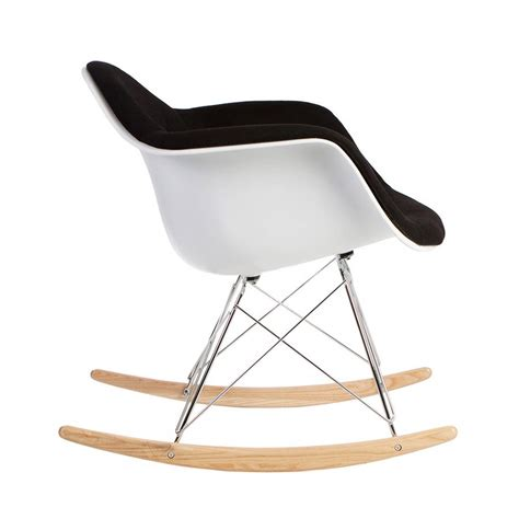 chair retro modern upholstered rocking arm chair by