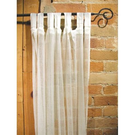 100 cotton gauze tab curtain 44 inches x 108 inches