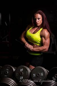 Janel Side Chest In Mirror  Npc Physique Competitor And Women U0026 39 S Bodybuilder  Janel Langdon Gives