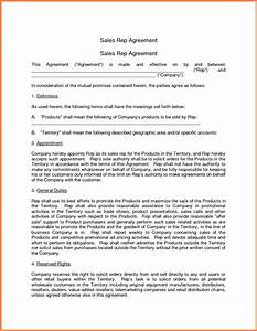 6 sales representative agreement template purchase With manufacturers rep agreement template