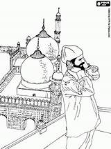 Coloring Pages Islamic Prayer Mosque Minarets Salvat Oncoloring Pe Activities sketch template