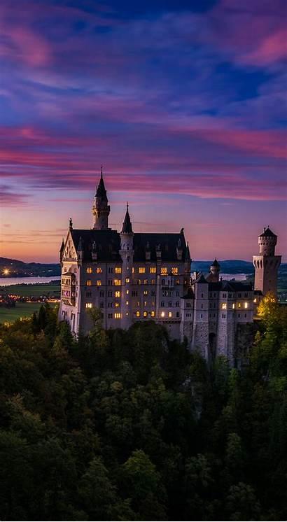 Phone Travel Castle Neuschwanstein Instructions Scenery Dusk
