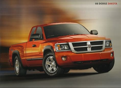 2008 Dodge Dakota Sales Brochure Catalog 08 Sxt Slt Trx4