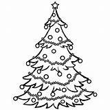 Tree Coloring Christmas Pages Printable Print Drawing Chrismas Trees Santa Clip Childrens Holiday Clipart Holidays Google sketch template