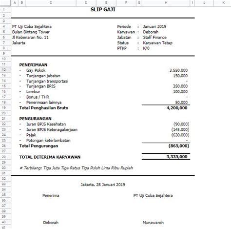 Laporan penghasilan terdiri dari jumlah gaji pokok, tunjangan hingga pajak penghasilan yang harus dibayarkan. Cara Membuat Slip Gaji Karyawan Di Word Dan Excel