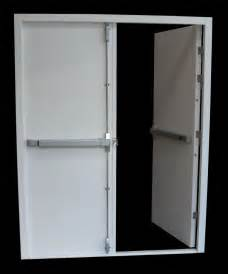 Emergency Exit Double Door with Push Bar