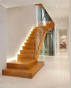 eclairage escalier led 30 idees modernes et originales With eclairage led escalier interieur