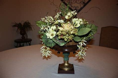 Hand Made Dining Table Centerpiece Silk Flower Arrangement