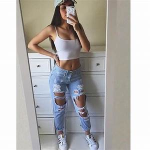 Extreme Ripped Mom Jeans u2013 Outfit Made