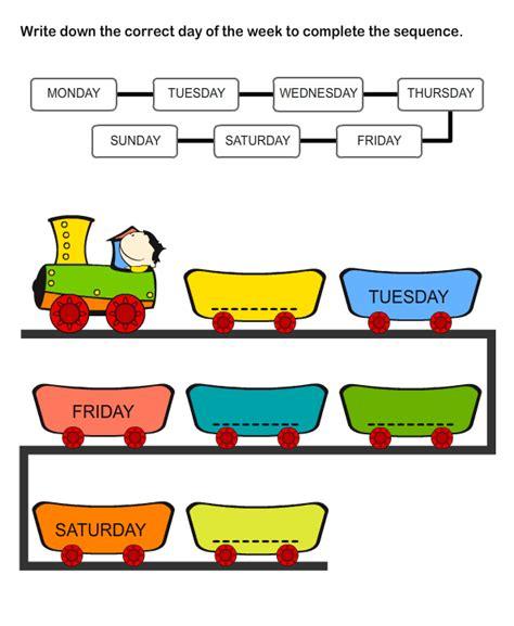 educational worksheets for worksheets on weekdays