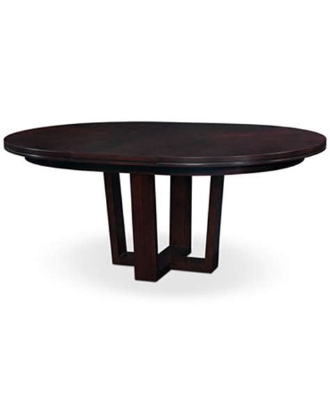 belaire round dining table furniture macy s