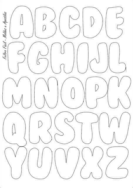 molde das letras do alfabeto para pe 231 as em feltro mai 250 sculas patchwork feltro letras em