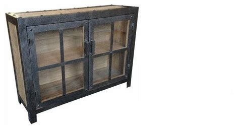 salvaged kitchen cabinets for industrial metal and recycled timber buffet horner 7858