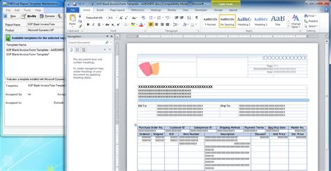 Word Templates The Dynamics Gp Blogster