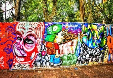 Background Graffiti Wall Yogyakarta
