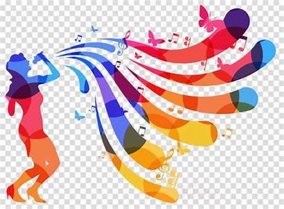 Singing Singer Silhouette Clipart Colorful Cartoon Transparent