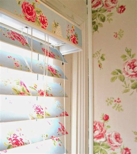 shabby chic blinds how to wallpaper blinds elyse press major shows us how