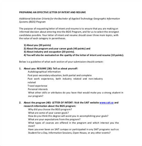simple letter  intent templates