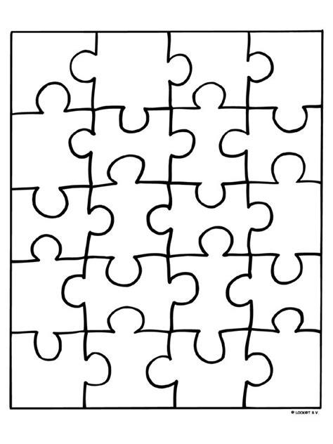 Puzzel Kleurplaat by 25 Beste Idee 235 N Puzzelstukjes Op