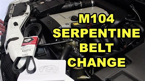 mercedes m104 serpentine belt replacement w140 youtube