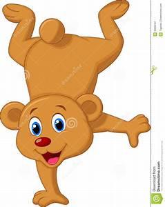Cute brown bear cartoon stock vector. Image of wildlife ...